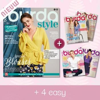 abonnement 12 maanden Burda Style & 4 x Burda EASY