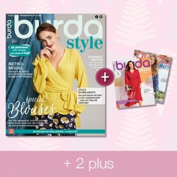 abonnement 12 maanden Burda Style & 2 x Burda PLUS