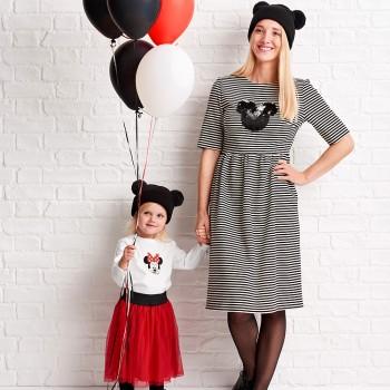 Disney 07 Gestreepte Mickey-Mouse-jurk
