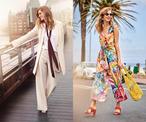Pantalon Marlène en soie et combinaison drapée